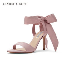 CHARLES & KEITH Single Shoes CK1-60360965 Ladies'Sandals with Butterfly Tie and High heels