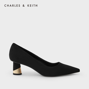charles keith21冬季新款通勤单鞋