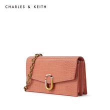 Charles & keith2020 summer new product ck6-10770430 women's splicing buckle Single Shoulder Bag Wallet