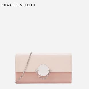 金属扣链条翻盖女士钱包10840150CK6长款钱包KEITH&CHARLES