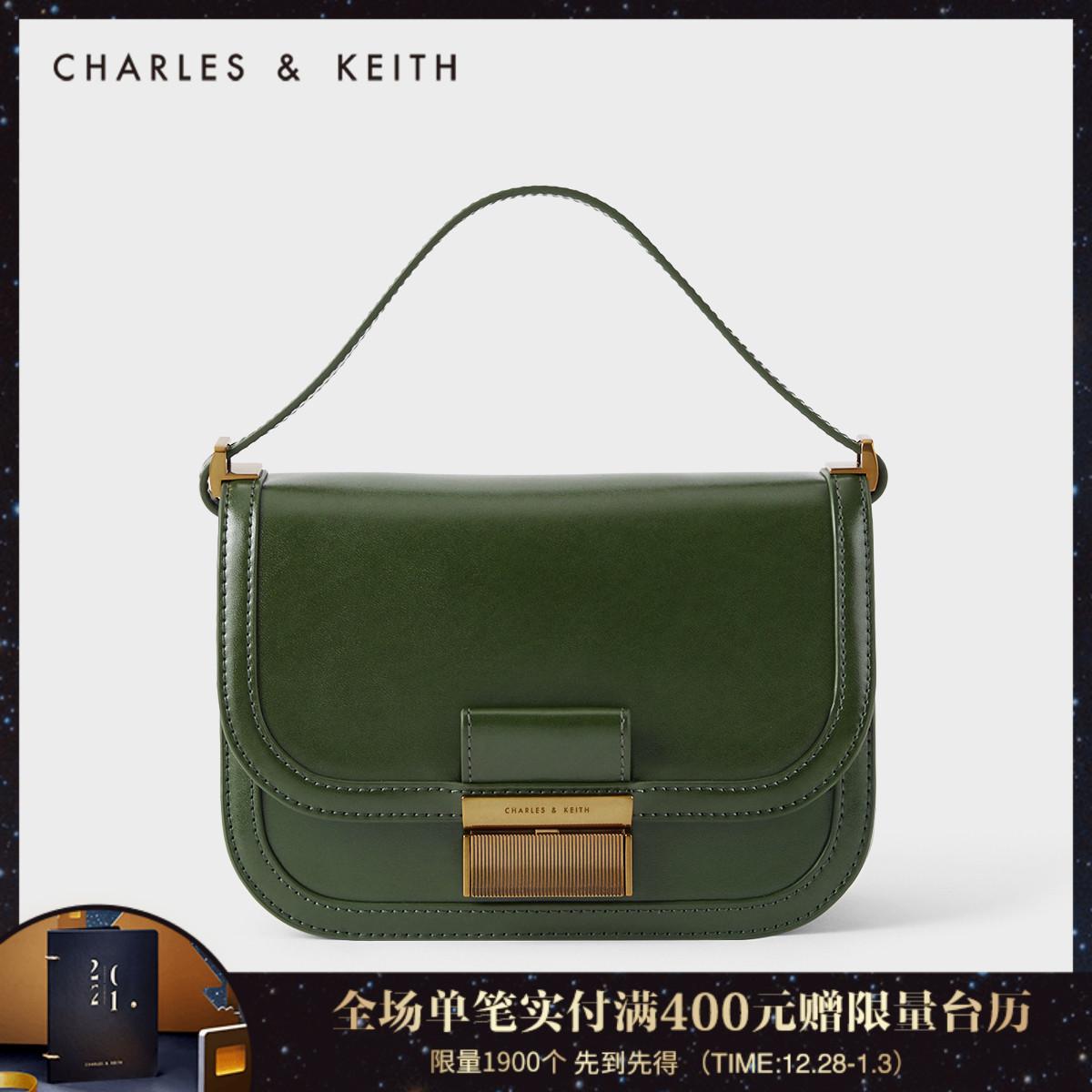 女士金属单肩腋下包豆腐包80781400CK2冬新品KEITH2020&CHARLES
