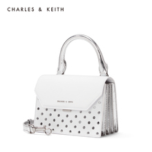 Charles & keith2020 spring new product ck2-50270454 wave point ornament portable single shoulder organ bag female