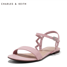 CHARLES & KEITH Sandals CK1-70480053 Simple Pure Suede Flat Bottom Shoes