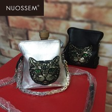Nuossem natural fall Leather Messenger Bag 2018 fashion new trend leather kitten bag women xj919
