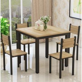 方形餐桌椅组合4人家用吃饭桌子简易正方形小四方桌棋牌桌将热卖图片