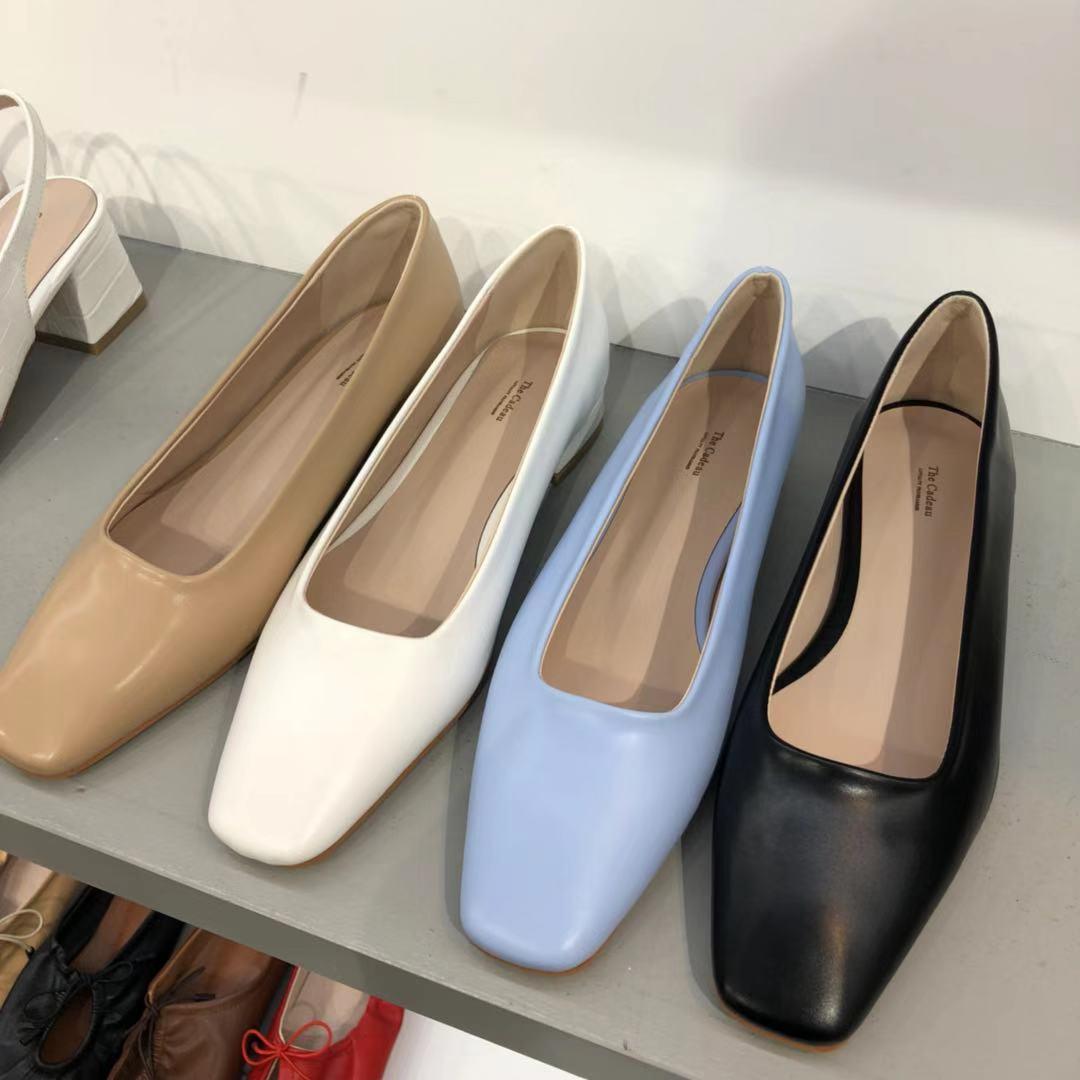 韩国东大门正品代购20春款包头韩味百搭小粗跟时尚瘦脚奶奶鞋凉鞋