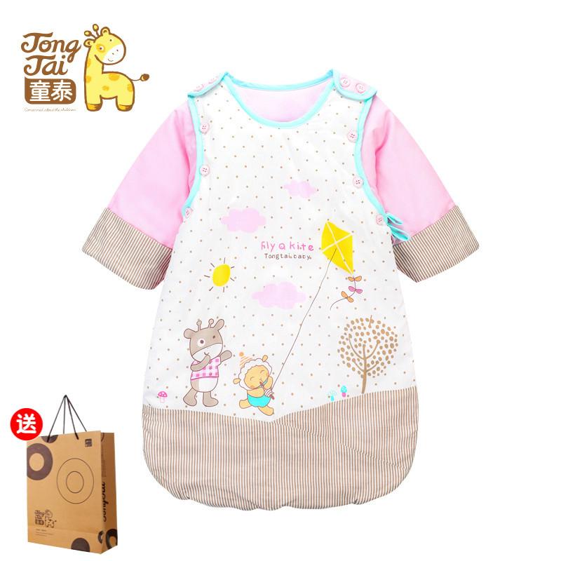 Тонг тайский ребенок спальный мешок осень и зима ребенок противо удар находятся хлопок ребенок в толстой может есть рукава спальный мешок младенец младенец статьи