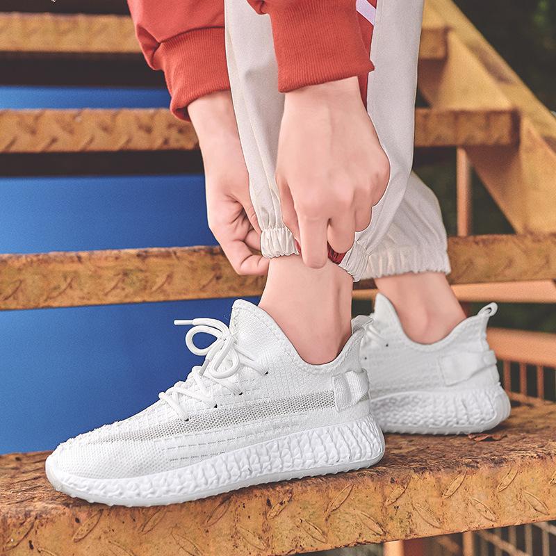lubbock男鞋夏季新款透气网面同款椰子鞋韩版潮鞋休闲情侣运动鞋