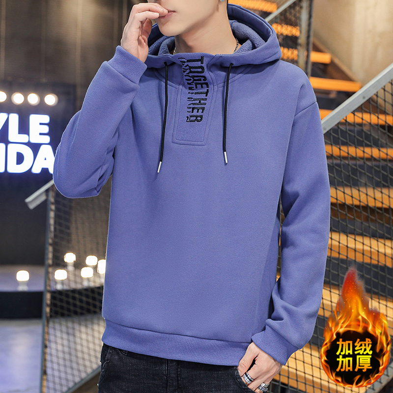 Hong Kong high collar mens new fashion loose Hoodie in autumn and winter 2020