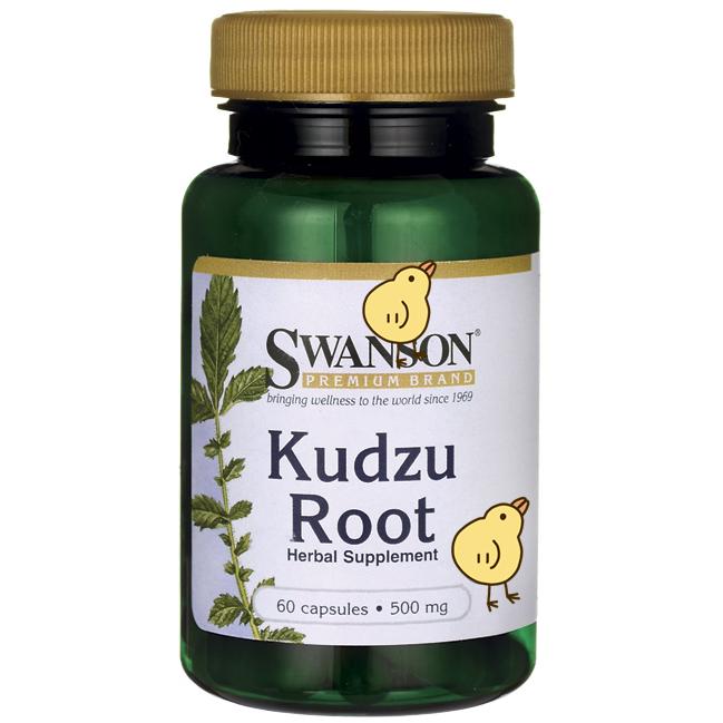 Специальное предложение сша оригинал Swanson Kudzu Root травянистый дикий пуэрария волосистая корень сущность капсула 500mg60 зерна