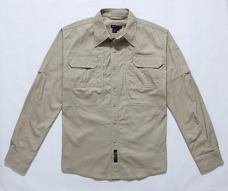 Outdoor casual clothing US military 5.11 long sleeve tactical shirt 511 Longya shirt special service shirt Khaki