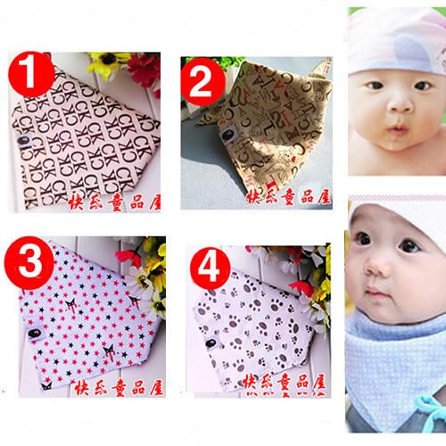 宝宝包头巾领巾