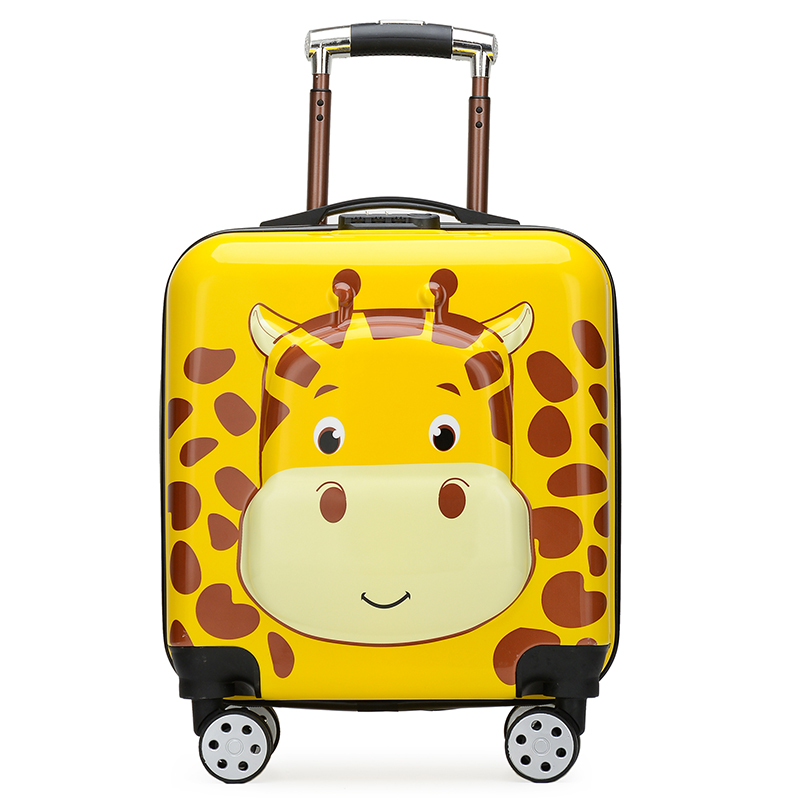 Bear 18 inch childrens suitcase boys and Girls Boarding suitcase 20 inch universal wheel password childrens Trolley Case