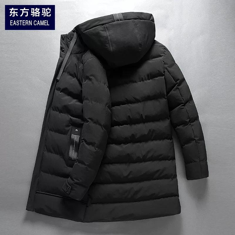 东方骆驼棉衣男中长款加厚保暖羽绒棉服连帽2019新款冬装外套棉袄