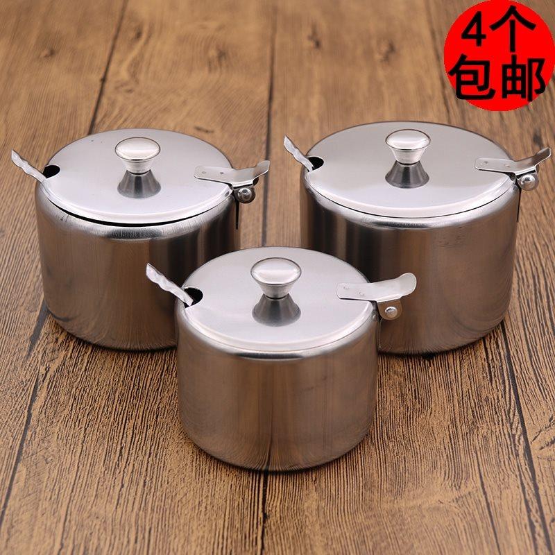 装辣椒油的罐子 有盖家用单个小号商用餐厅调味料瓶酱油壶不锈钢