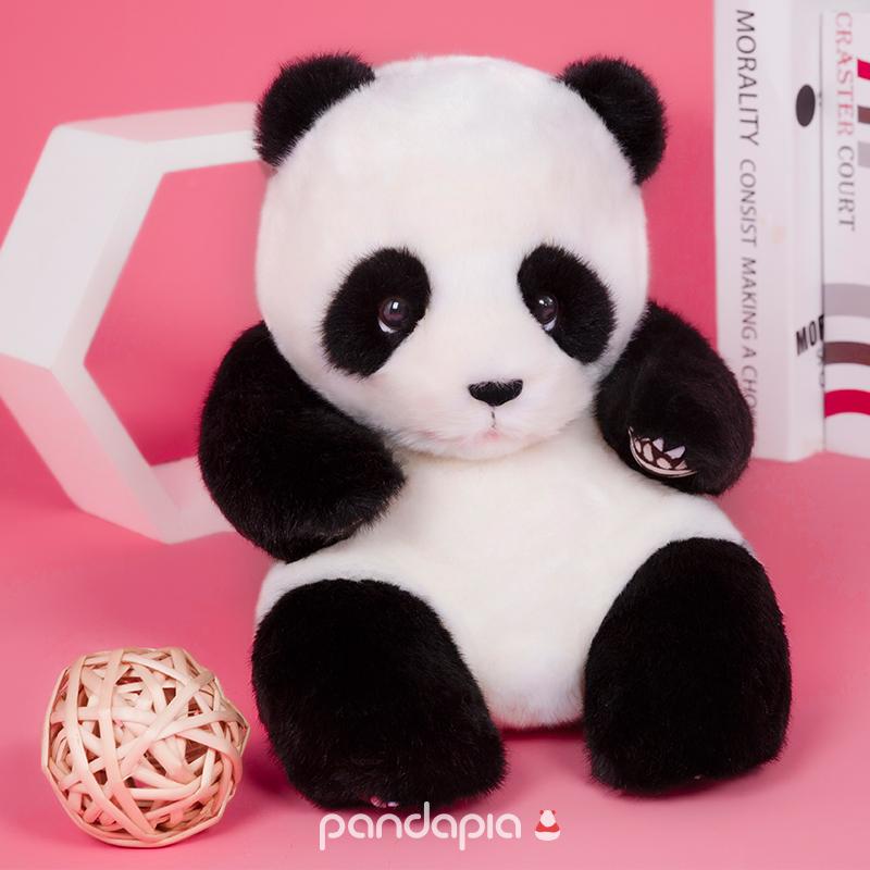 纪念品长毛版熊猫摊原创生物形态毛绒玩偶熊猫伴伴pandapia