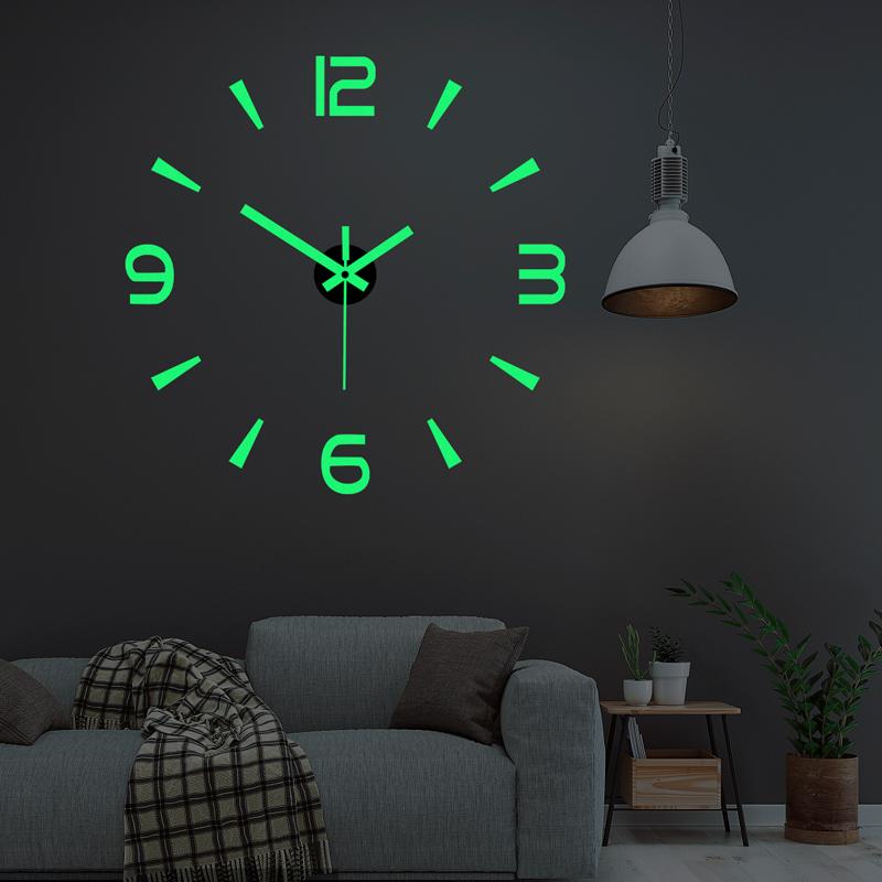 現代の簡単な音の掛け時計の客間のアイデアの時計は壁の個性を掛けて穴をあける時計diy芸術が壁の時計を貼ることを免れます。