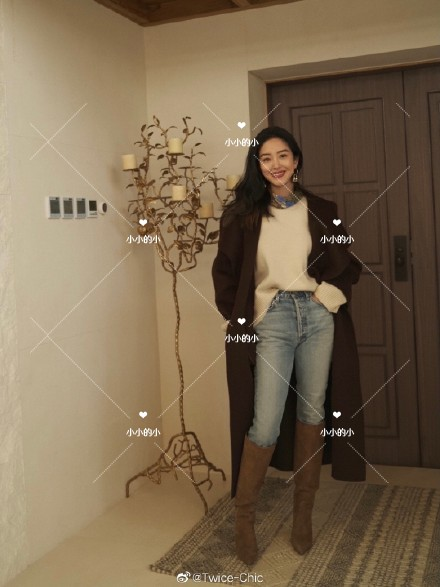Yang Caiyus same 20 autumn winter toteme Annecy wool cashmere blend coat