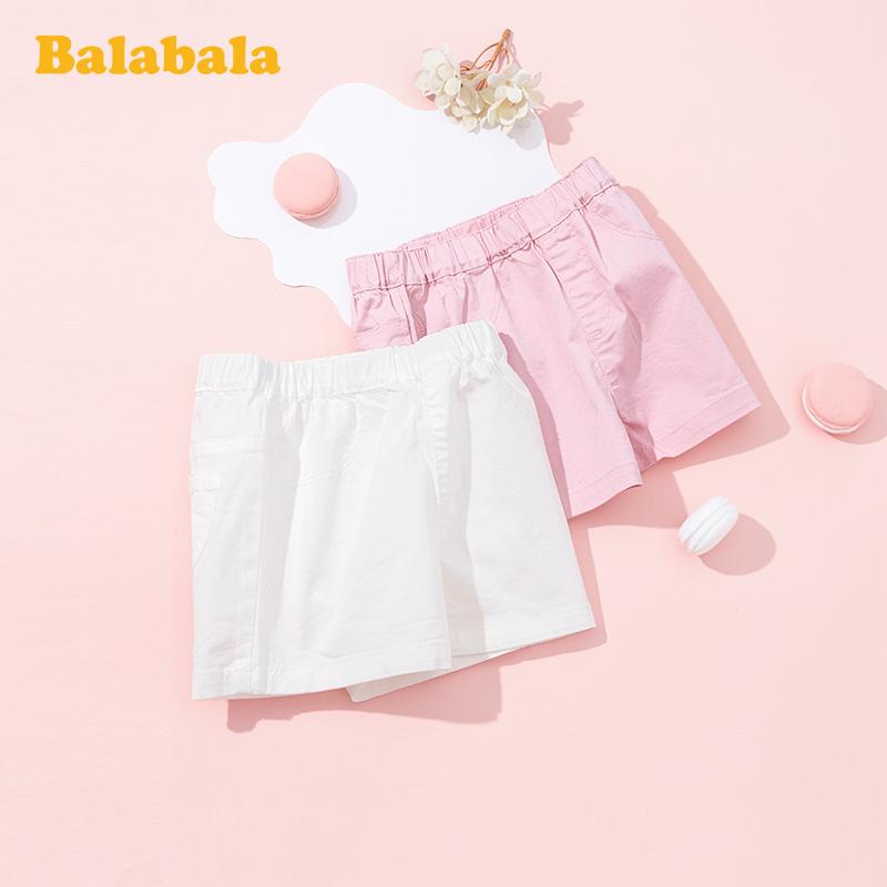 巴拉巴拉童装儿童裤子女童短裤夏季清仓正品韩版小童宝宝洋气热裤