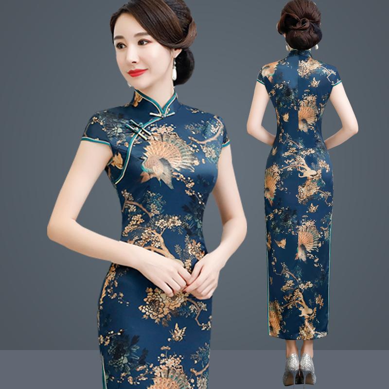 妈妈装长款短袖春夏婆婆传统晚礼服10月20日最新优惠
