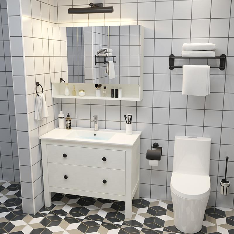 北欧现代简约洗脸洗手盆柜组合面池(用1元券)