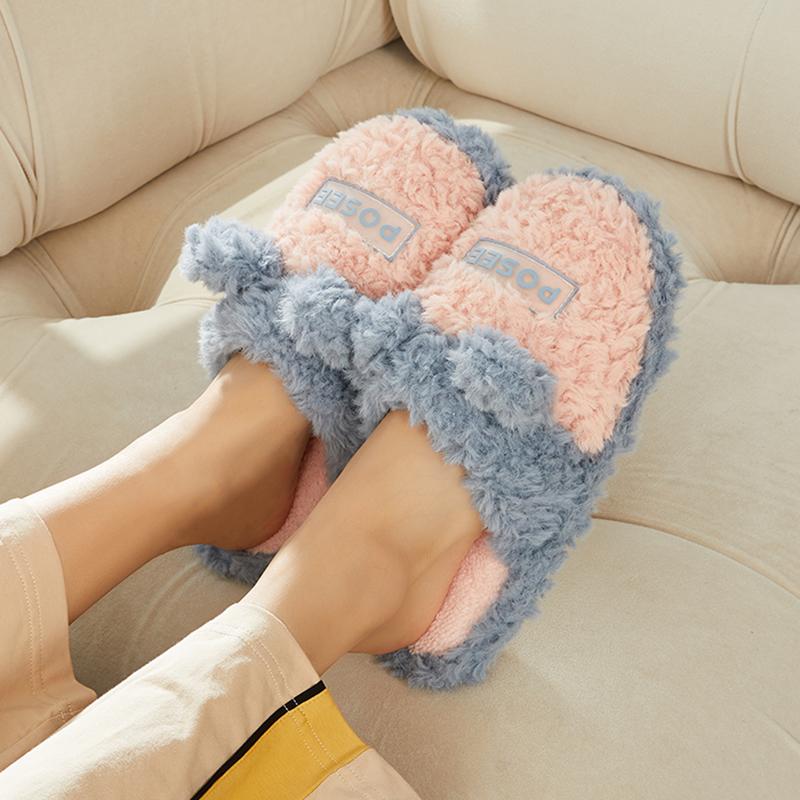 冬季棉拖鞋女室内男保暖毛绒卡通居家家用毛毛软底防水防滑春秋