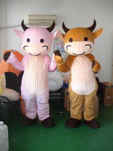 大嘴奶牛蒙牛卡通人偶服装 行走cos道具小牛动漫人物玩偶服饰黄牛