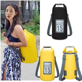 户外防水袋防水包游泳收纳袋旅行沙滩手机浮潜跟屁虫背包漂流桶包