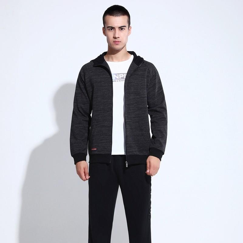 361春秋男士开衫连帽运动套装中青年男式长袖运动外套韩版时尚运
