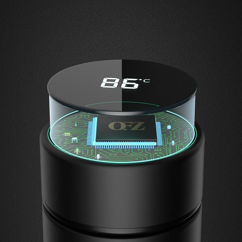 德国OFZ智能保温杯男女测温水杯子316不锈钢泡茶杯高档带温度显示