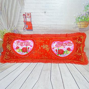 新十字绣双人5d贵族枕长枕头枕头套