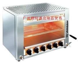 汇利GS-16 六头红外线燃气面火炉 面火烤炉 燃气面火烤箱促销