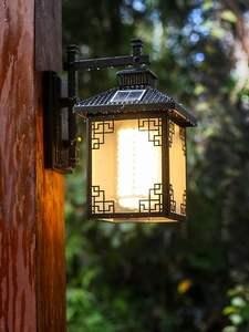 壁灯 户外防水新中式复古灯具庭院灯室外智能别墅灯仿古灯