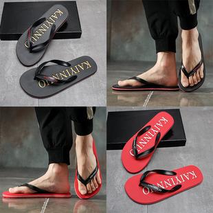 夏季人字拖男士防滑凉拖鞋外穿个性潮流夹脚室外沙滩鞋男凉鞋韩版品牌