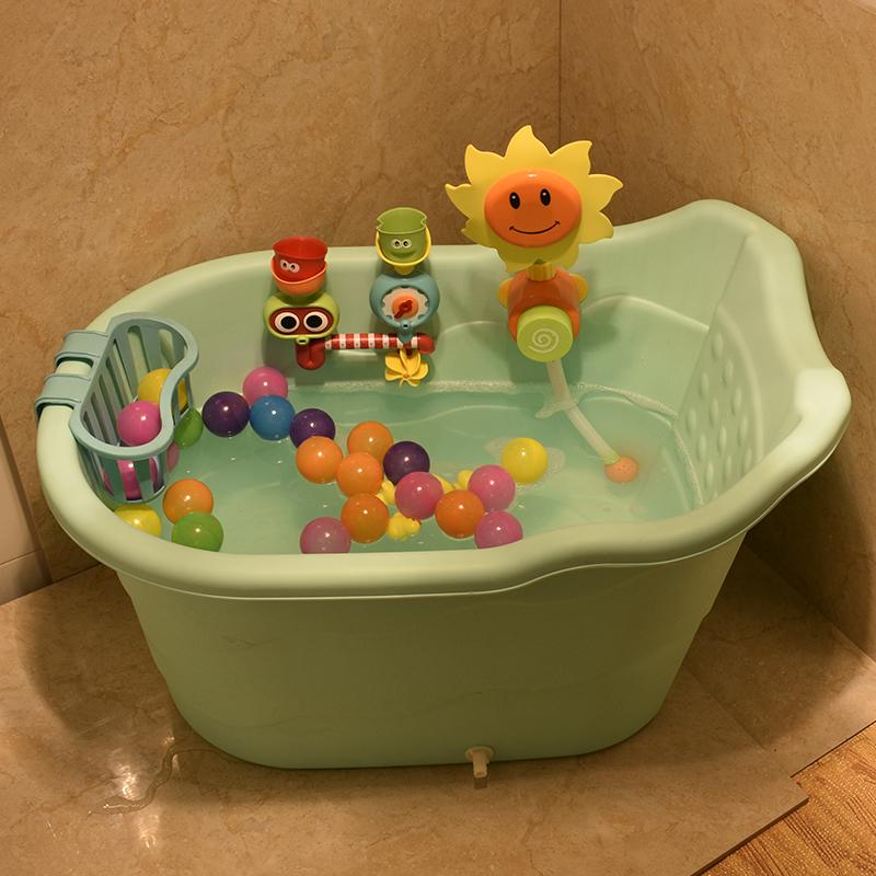 大号宝宝家用塑料加厚可坐躺洗澡桶