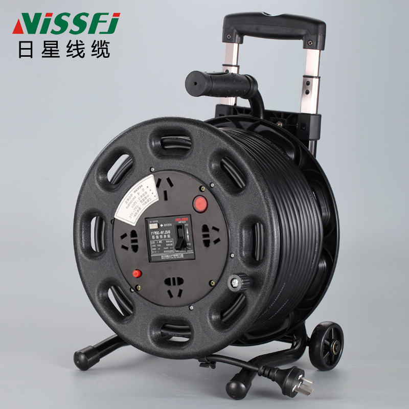 Wire reel, movable cable reel, strip line, extended winding line, 30 / 50 / 100M project, empty reel socket of winding reel