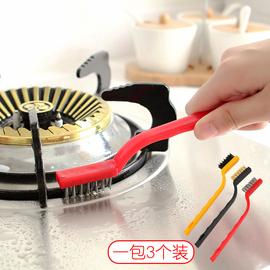 日本厨房用品 去污煤气灶台刷油烟机清洁刷子 尼龙铜刷钢丝锅炉刷图片
