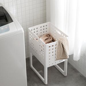 日本脏衣服收纳筐可折叠家用脏衣篓洗衣篮塑料装衣服桶篮子收纳筐