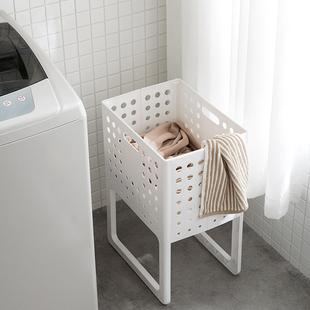 日本脏衣服收纳筐可折叠家用脏衣篓洗衣篮塑料装 衣服桶篮子收纳筐