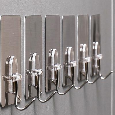 挂钩强力粘胶墙壁承重壁挂厨房挂架免打孔不锈钢无痕浴室吸盘钩子