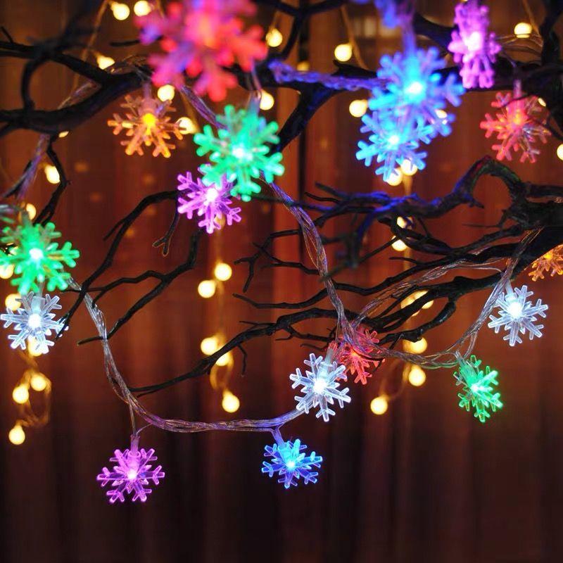 中國代購 中國批發-ibuy99 LED灯 LED满天星星小彩灯圣诞节装饰品雪花铃铛圣诞树布置摆摊神器夜光
