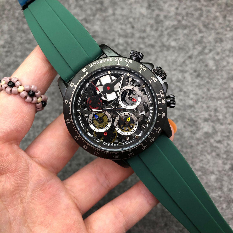 欧美个性时尚三眼计时户外军事风运动硅胶带非机械表潮流学生手表