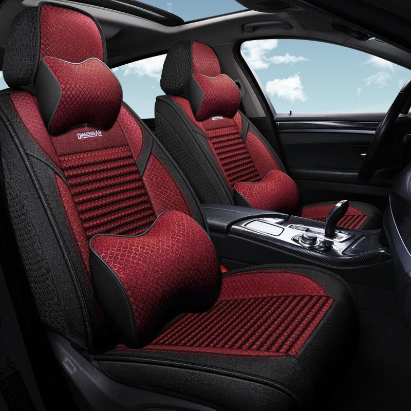 2017款汽车坐垫新广汽传祺GS3GS7GA6传奇GS4专用四季棉麻全包座套