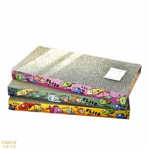 包邮 卡通鱼平板形加厚大号瓦楞纸猫抓板猫玩具送薄荷草