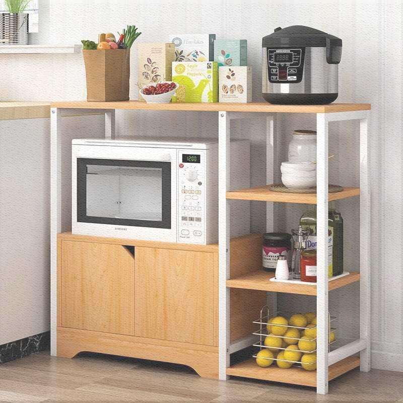 物架碗柜储物厨房多功能电器家用置物微波炉收纳功能欧式微波客厅