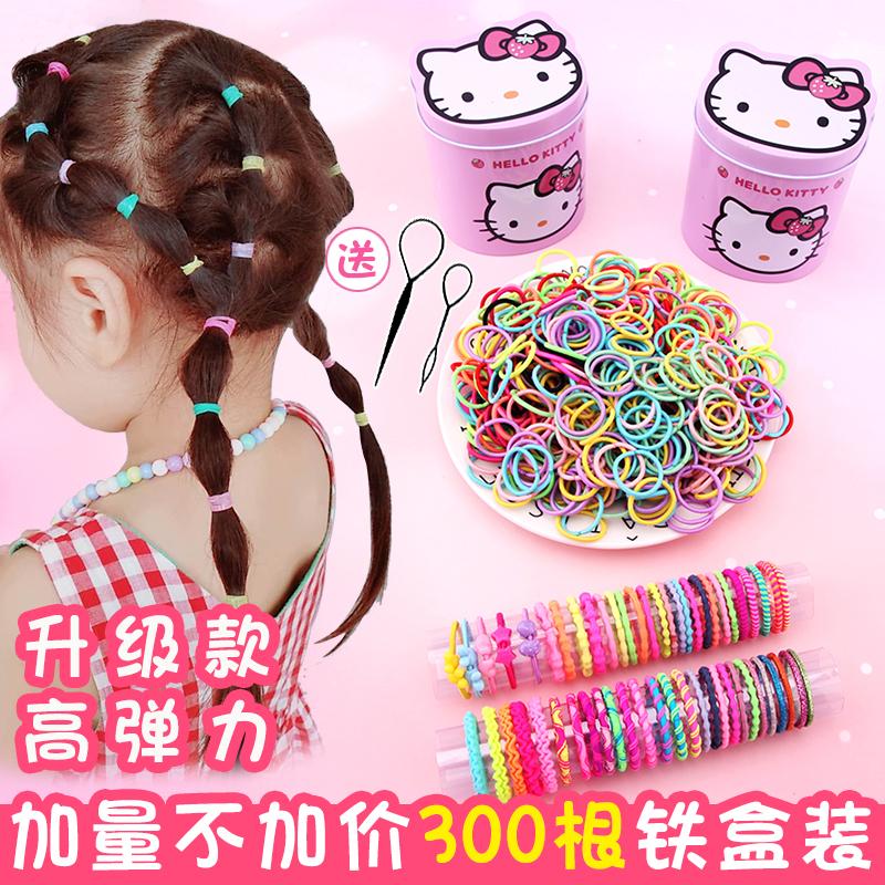 儿童扎头发绳不伤发宝宝小号发圈婴儿头绳发量少女童橡皮筋发饰