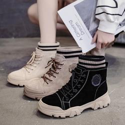 女鞋子马丁靴女英伦风2020年新款秋冬百搭学生女棉鞋瘦瘦靴短靴子