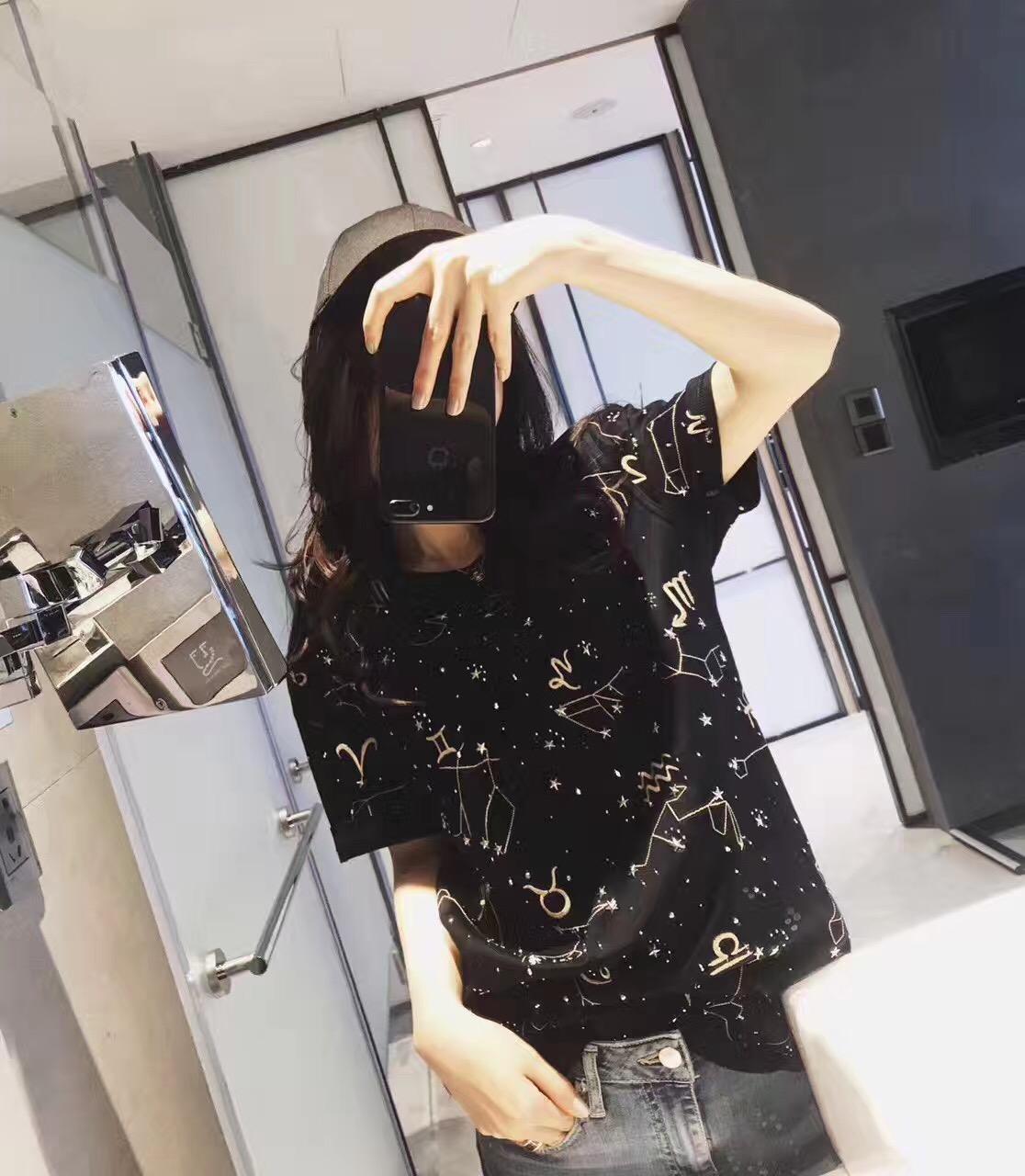 【海龟】 Charlie Luciano CL 19SS 十二星座刺绣水钻短袖T恤