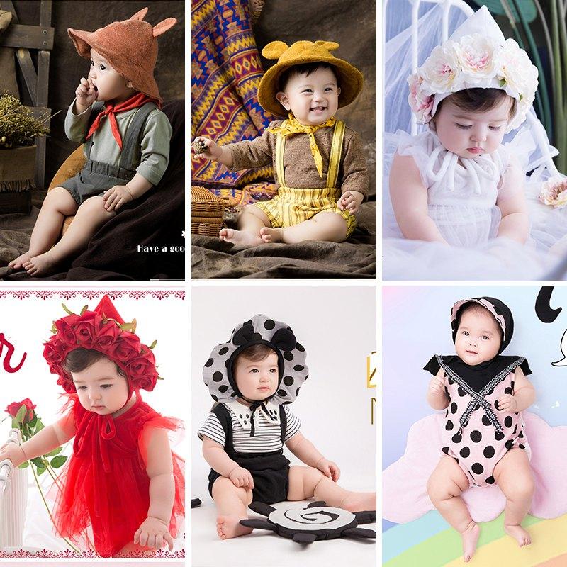 儿童摄影服装2019展会新款影楼百天拍照服饰宝宝照相服装摄影服