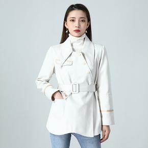云系列◆韩版修身短款风衣007品牌折扣正品女装2020冬季新款外套